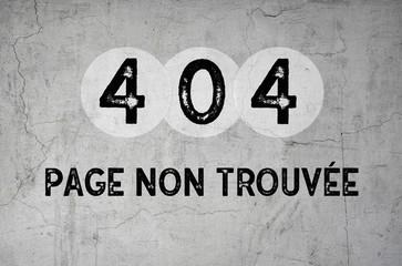 page non trouvée - 404