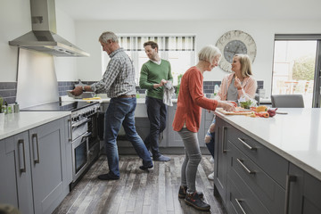 Family Cooking A Meal