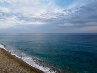 Blue sea at Deiva Marina in Italy