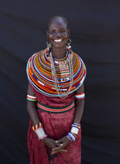 Portrait of Samburu Lady. kenya, Africa.