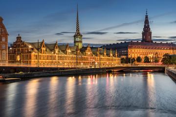 Foto auf Gartenposter Skandinavien Christiansborg in the Danish city of Copenhagen