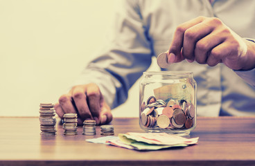 Save money for retirement for finance business concept