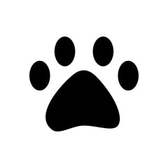 pet paw print walk animal silhouette vector illustartion