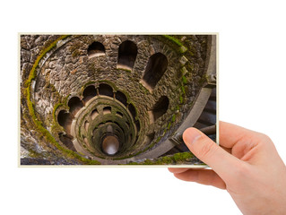 Hand and Initiation Well in Castle Quinta da Regaleira - Sintra Portugal (my photo)