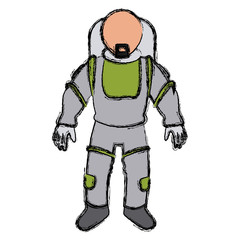 astronaut space suit people science astronomy vector illustration