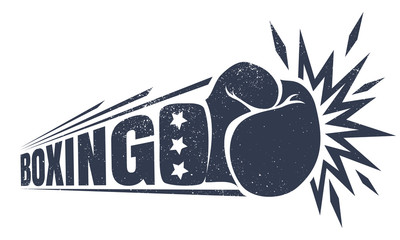 Vintage logo for boxing.