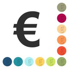Farbige Buttons - Euro Währung