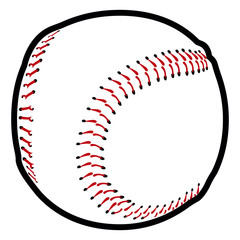 Isolated baseball icon