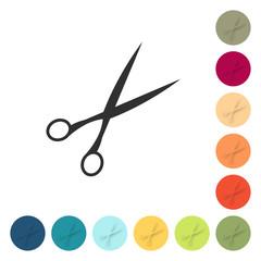Farbige Buttons - Schere