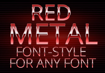Red Metallic Text Style 1