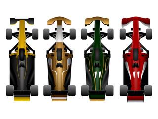 Set of racing cars