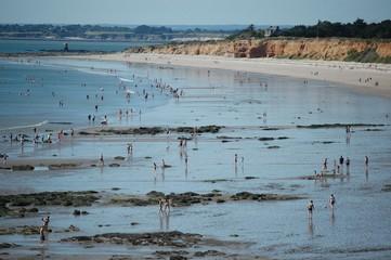 Plages de Pénestin, sur la côte Atlantique, dans le département du Morbihan, en Bretagne