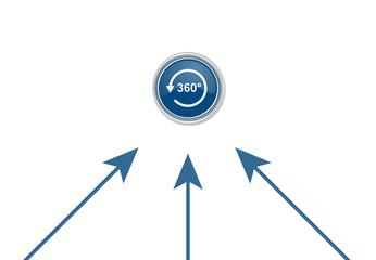Pfeile zeigen auf Button - Panorama-Symbol