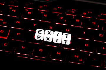 Exit symbol on computer
