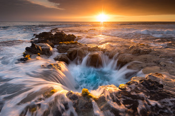 Pools of Paradise during Sunset at the Coast of Hawaii (Big Island)