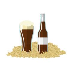 Vector illustration of barley beer label
