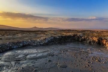 Mud volcanoes in Gobustan.Azerbaijan Wall mural