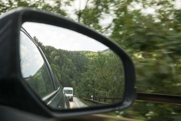 Rear car mirror. Slovakia