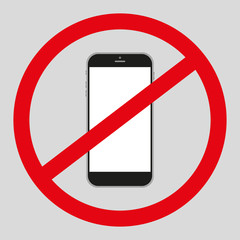 no mobile phone icon. no phone telephone cellphone.