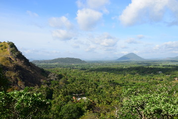 Bergpanorama in Teelandschaft