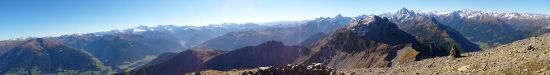 Panorama von Serles