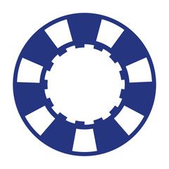 blue casino poker chip