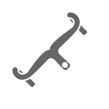 Road bike handlebars icon. Bicycle component.