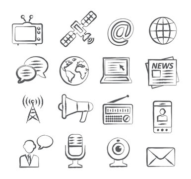 Media Doodle Icons