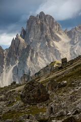 Dolomite mountain peaks