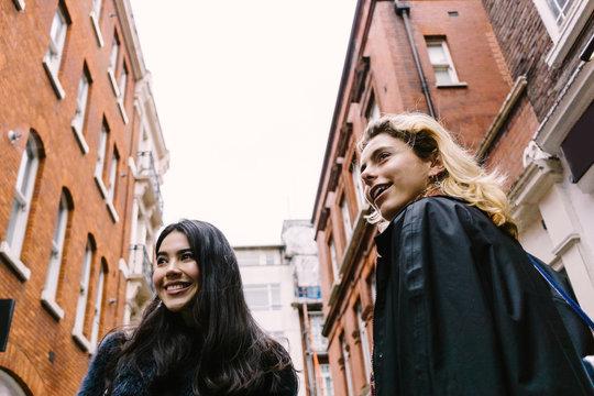 Best Friends Doing Shopping in London