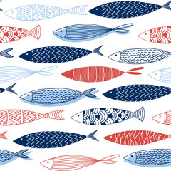 Seamless pattern from decorative fish