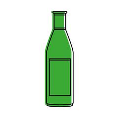 liquor bottle icon image vector illustration design  green color