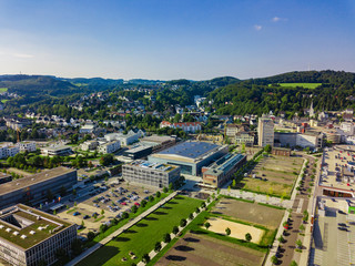 Aerial photo of Gummersbach, a town in Germany