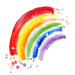 Rainbow colors paint strokes. Rainbow flag, gay pride symbol