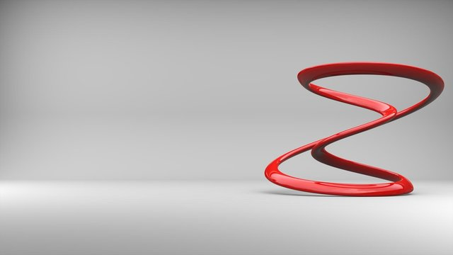 Abstract red minimalist sculpture