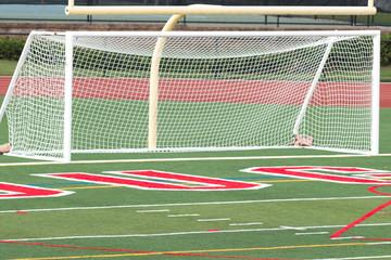 Soccer goal on a turf field