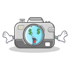 Money eye camera caharacter cartoon design