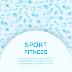 Sport and fitness background.