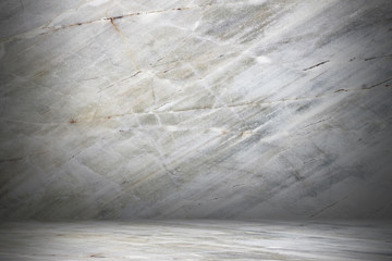 Wall Mural - marble wall and floor with shadow for pattern and background