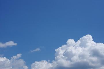 青い空と夏の雲