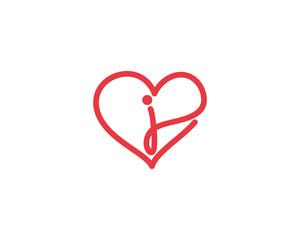 Lowercase Letter j and Heart Logo 1