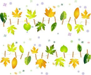 season leaves seamless