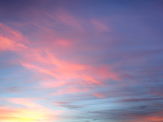 Pink Sunset Clouds