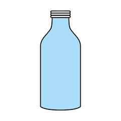 Flat line monocromatic bottle over white background vector illustration