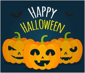 Jack pumpkins Happy halloween