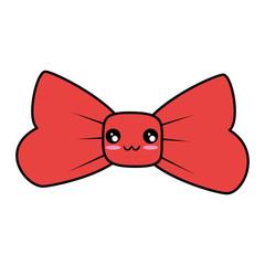 Decorative bow symbol cute cartoon kawaii vector illustration  graphic