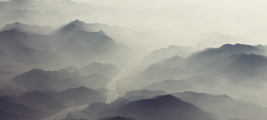 Mountains silhouette
