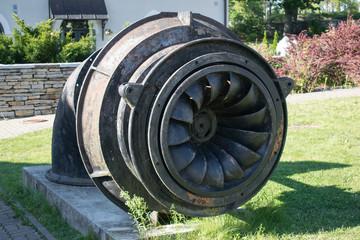 Old metall water pump