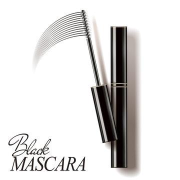Black mascara mockup