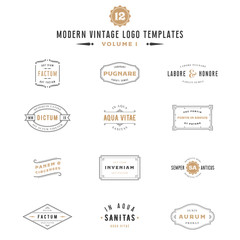 Vintage Labels and Logo Templates